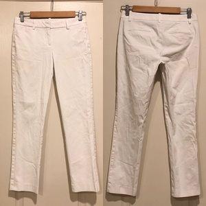 Theory white cropped Pants career EUC size 2